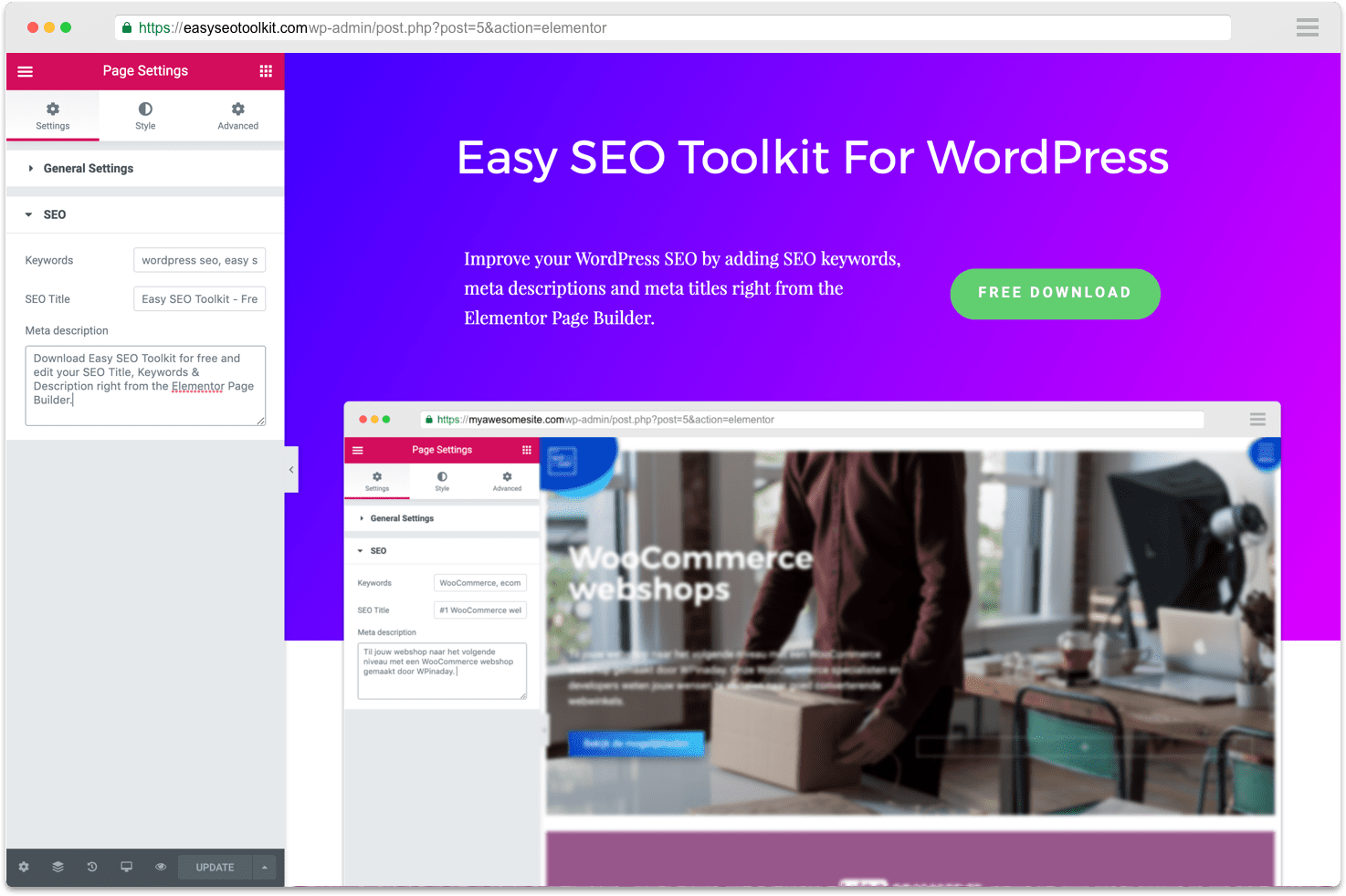 Easy SEO Toolkit for WordPress - Elementor SEO